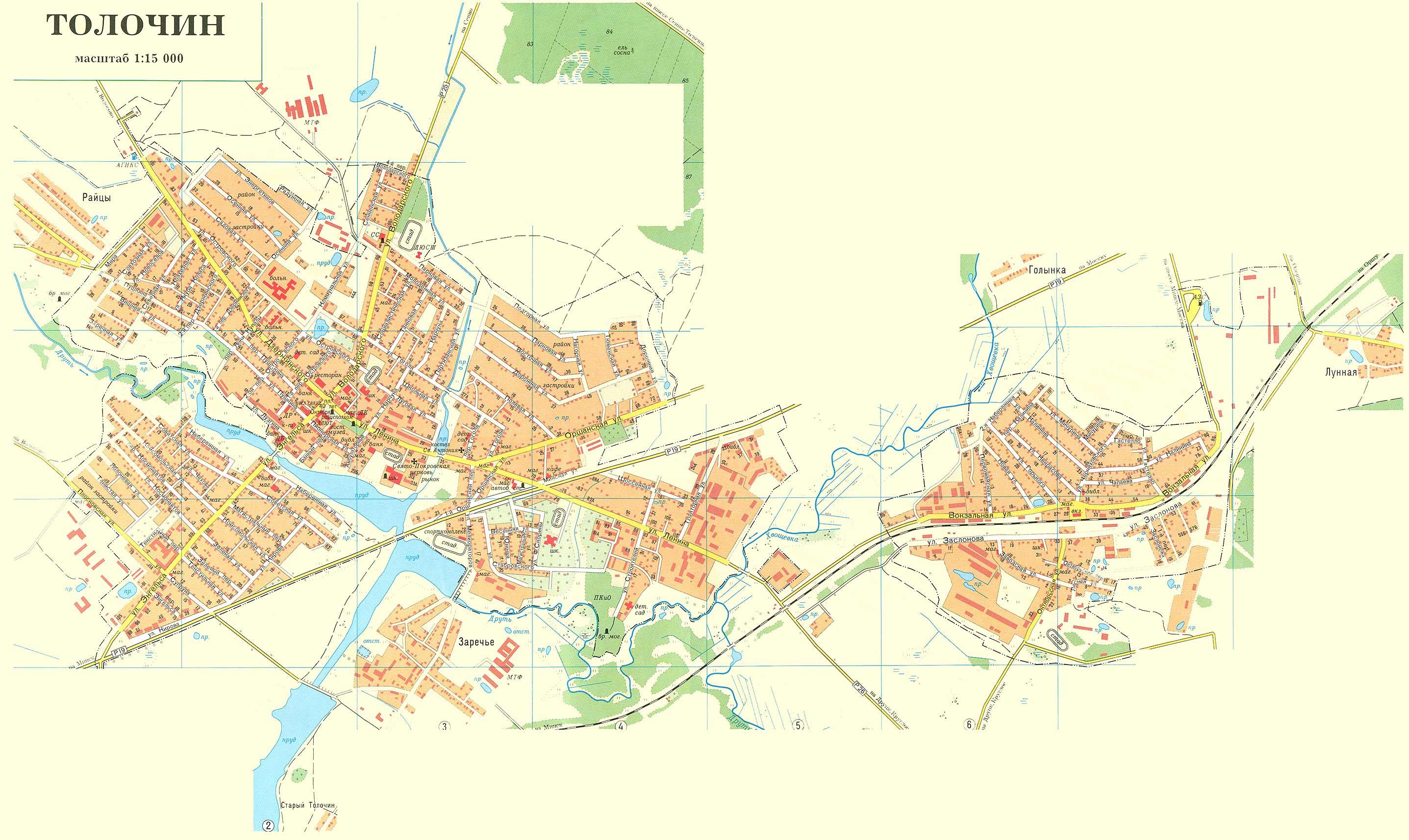 Карта Толочина