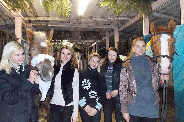 Новогоднюю сказку подарили воспитанники конноспортивной школы