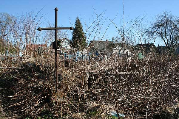 Свалка на кладбище по улице Оршанской в Толочине поражает безобразием