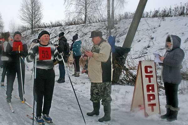 Лыжники боролись с соперниками и дождем
