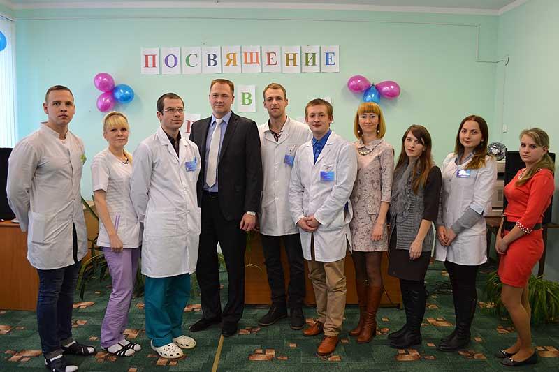 Коллектив районной больницы поприветствовал молодое пополнение