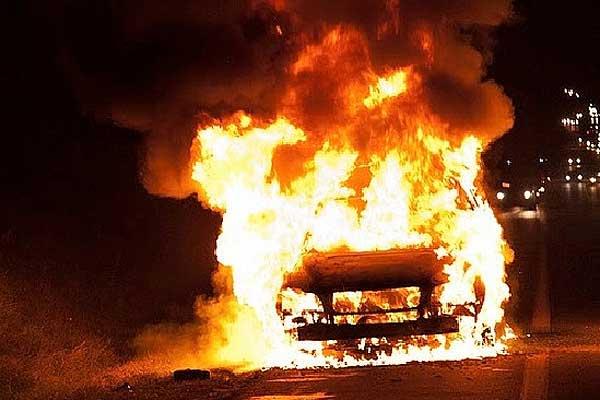 В Коханово загорелся автомобиль