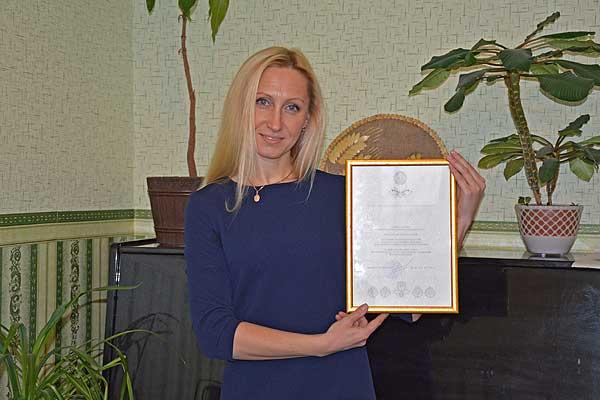 Преподаватель Кохановской детской школы искусств получила благодарность министра культуры