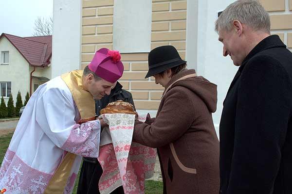 Талачын наведаў біскуп Віцебскай дыяцэзіі
