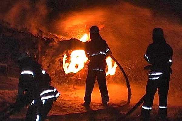 В Толочине в результате пожара пострадал автомобиль