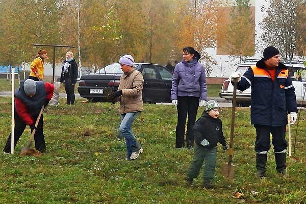 Хороший почин молодых семей: кохановские новоселы обустроили территорию возле своего дома