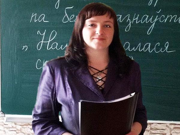 Настаўніца Слаўнаўскай сярэдняй школы Таццяна Абухова прывівае сваім вучням любоў да роднай мовы