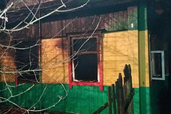 К пожару в Толочине, на котором погибли люди, привели алкоголь и сигареты