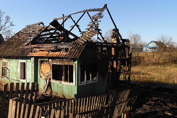 В Толочине в результате пожара поврежден жилой дом