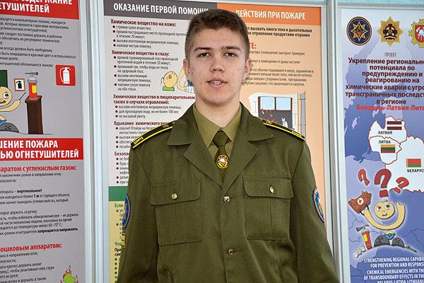 Владислав Жигальский: день будущего спасателя расписан буквально по часам