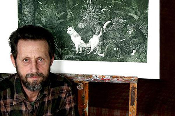 Очарование народной сказки: юные кохановские художники познакомились с творчеством знаменитого иллюстратора-земляка Валерия Слаука