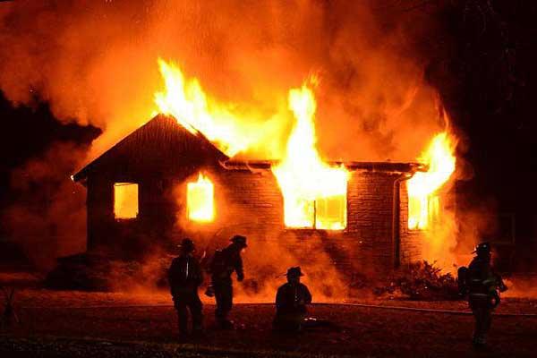 В Толочинском районе на пожаре погиб мужчина