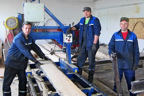 Піламатэрыялы Талачынскага лясгаса запатрабаваныя на ўнутраным рынку і за мяжою