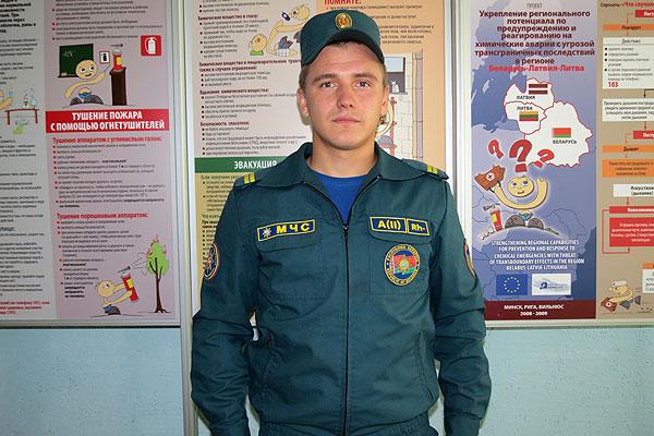 Толочинский спасатель Дмитрий Колодинский всегда на передовой