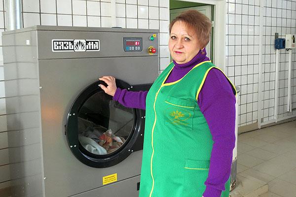 У талачынскай пральні створаны ўсе ўмовы для працы