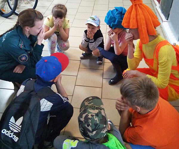 Спасатели провели в Толочине практические занятия на безопасность