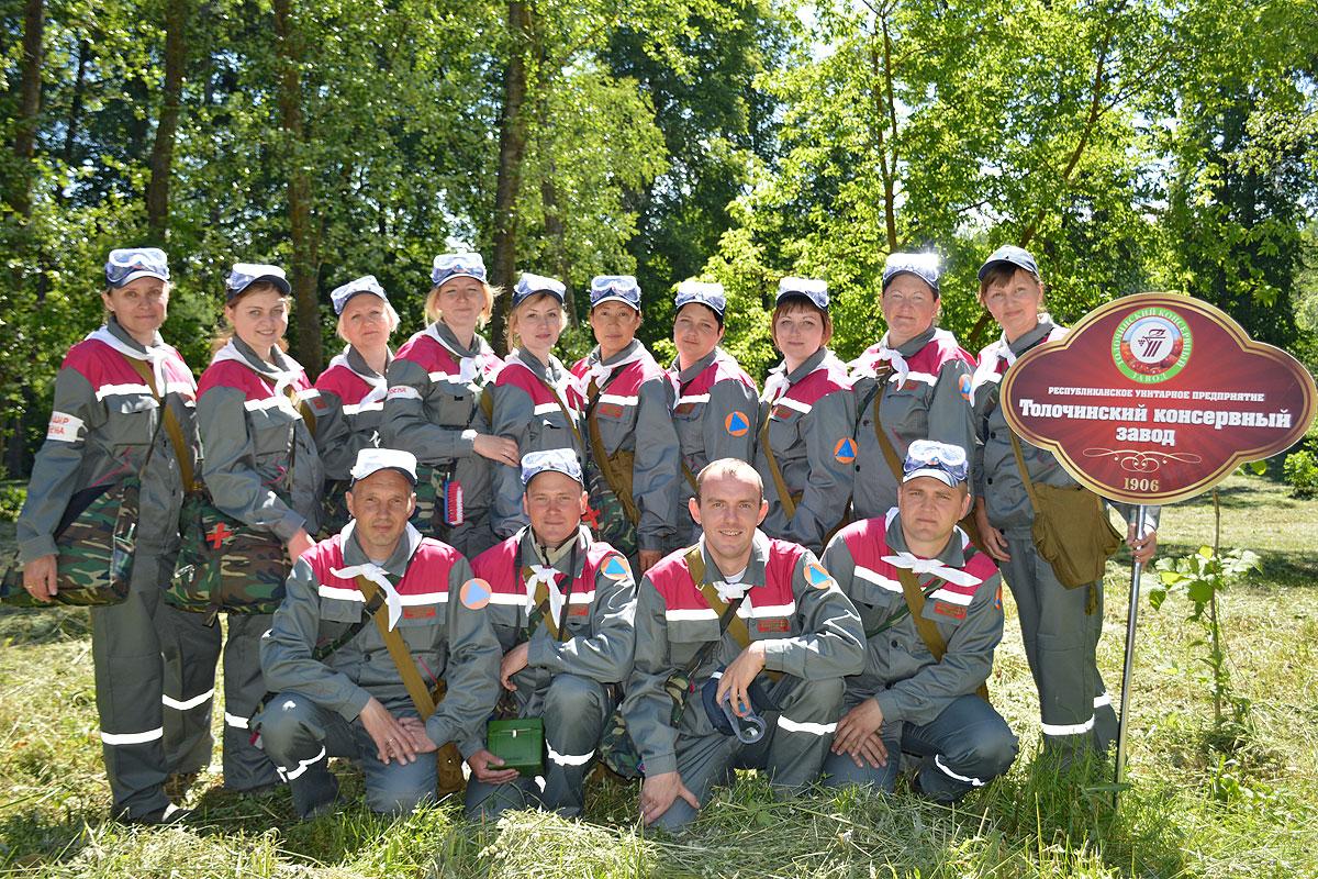 Санитарная дружина Толочинского консервного завода заняла второе место на областных соревнованиях (+фото)