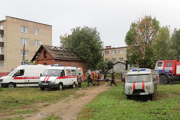 Вучэнні па ліквідацыі надзвычайных сітуацый у Талачынскім раёне прайшлі паспяхова