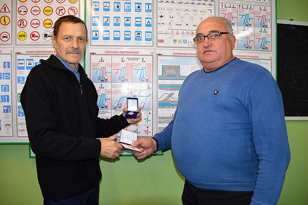 Толочинский водитель АТП №11 награжден высшей отраслевой наградой министерства