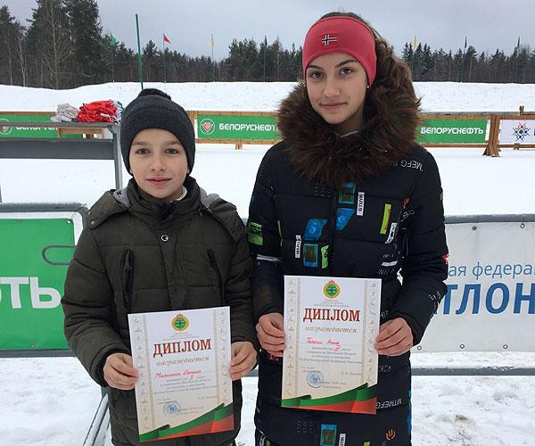 Юные толочинские биатлонисты успешно открыли зимний сезон