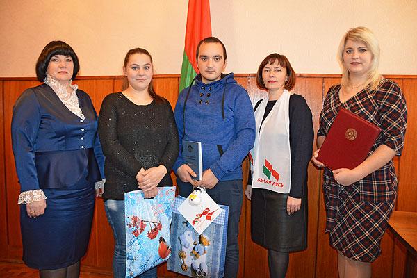 В Толочине в торжественной обстановке проведена первая регистрация рождения в новом году