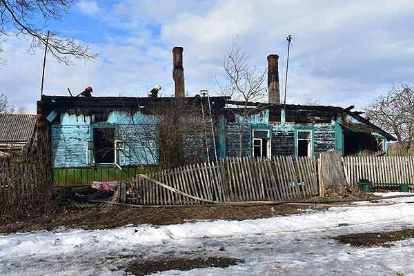В деревне Сосняки Толочинского района произошел пожар в доме-даче