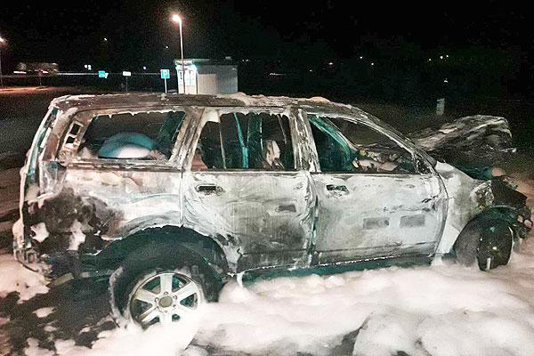 В Толочинском районе огнем уничтожен автомобиль