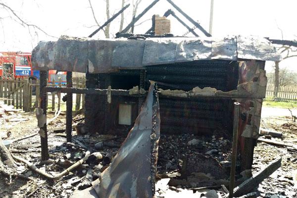 В Толочинском районе огнем повреждена баня