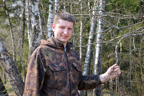 Молодой толочинский помощник лесничего Филипп Хрол профессию выбирал сердцем