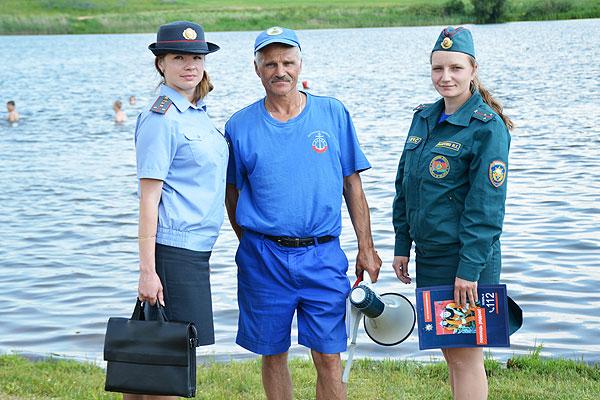 В Толочинском районе сотрудники РОЧС, РОВД и ОСВОДа ведут патрулирование мест купания