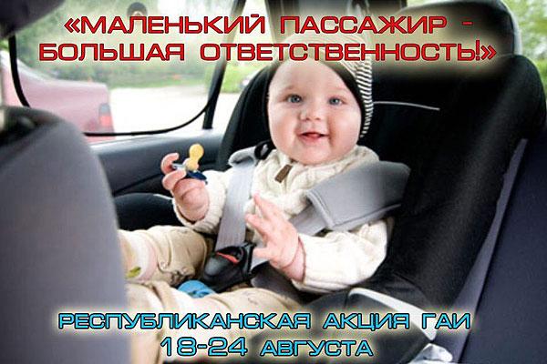 Толочинские госавтоинспекторы проконтролируют безопасность перевозки детей