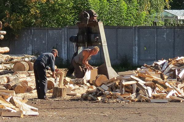 Зимой нам стужа не страшна, когда в печи горят дрова