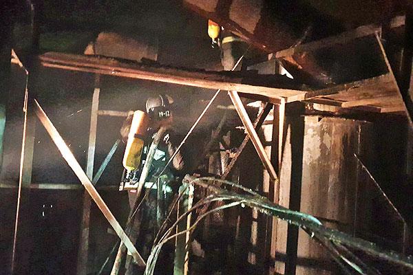 В Толочине произошел пожар на зерносушильном комплексе элеватора