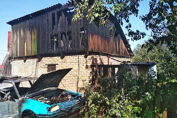 В Толочинском районе детская шалость привела к пожару