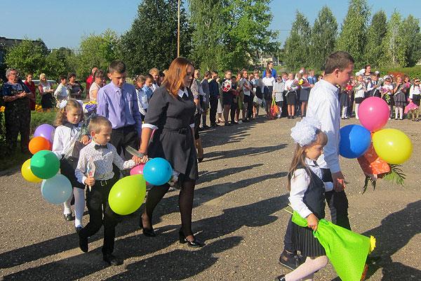 В дружной школьной семье в Обольцах пополнение
