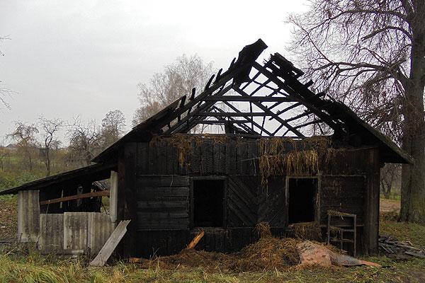 В Толочинском районе огнем поврежден жилой дом