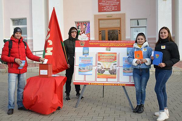 Активисты БРСМ провели в Толочине пикет по повышению активности избирателей
