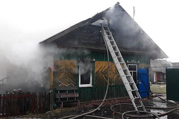 В деревне Слободка произошел пожар в жилом доме