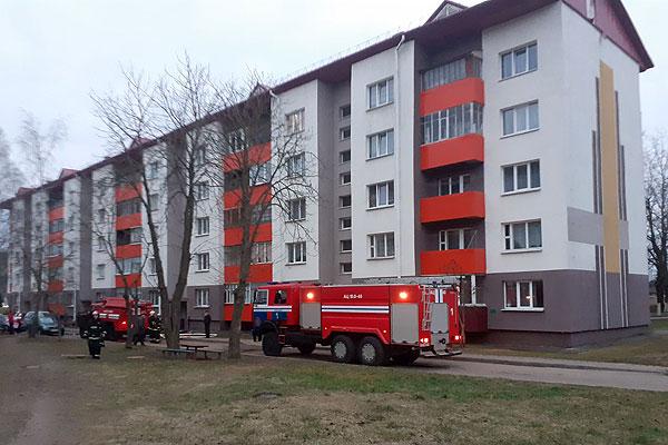 Толочинские спасатели при ликвидации пожара в квартире спасли двоих и эвакуировали восемь человек