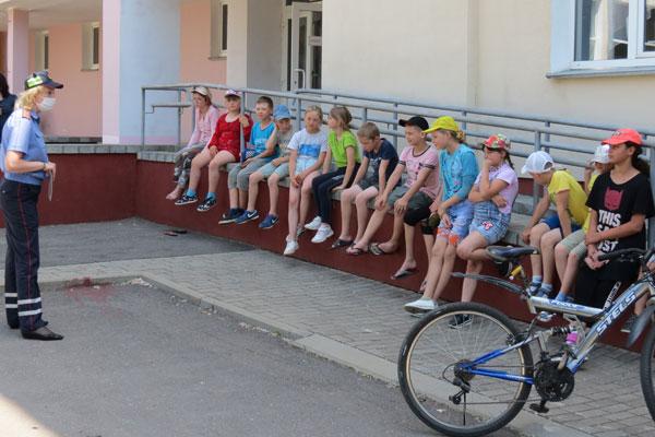 В Толочинском районе прошла акция по профилактике ДТП среди велосипедистов