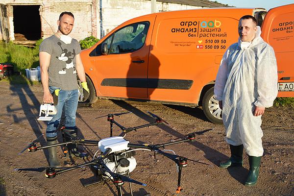 С дрона — по сорнякам и вредителям