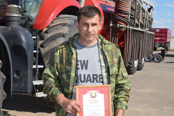 Лучшие труженики района: механизатор филиала ИООО «Белдан» Сергей Скробо