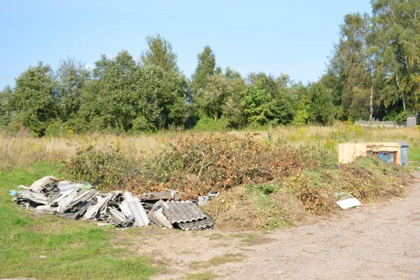 Выбрасывая крупный мусор, придётся платить: либо — штраф, либо — за услугу трактора с прицепом