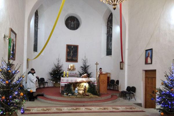 Рождественское богослужение состоялось в костёле Антония Падуанского в Толочине