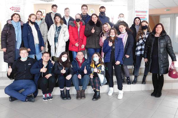 Учащиеся агроклассов средней школы №3 Толочина побывали в академии ветеринарной медицины в Витебске