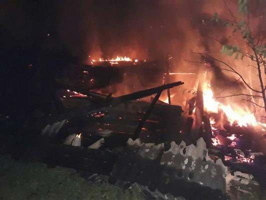 В Коханово ночью 13 сентября сгорел дом