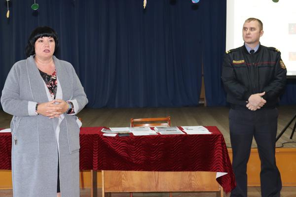 Состоялась встреча с жителями Славеней по вопросам безопасной жизнедеятельности