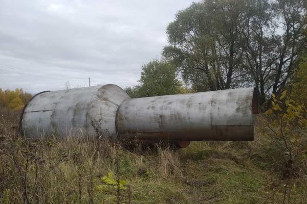 Часть водонапорной башни срезали и похитили в Толочинском районе