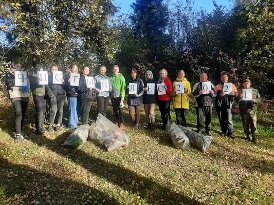 Школьники приняли участие в акции «Чистый лес-2021» (+фото)